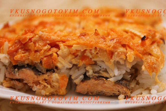 красная рыба запеченная в духовке рецепт с сыром и