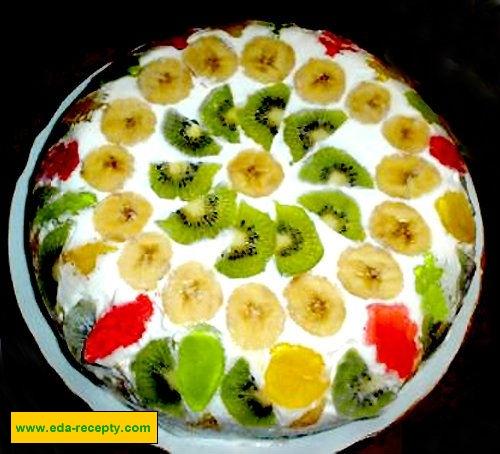 рецепты йогуртовый торт с фруктами рецепты с фото