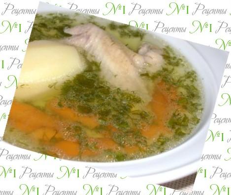 куриный суп морковка лук картошка курица макароны рецепт