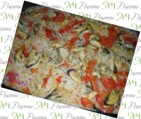рис с мидиями видео