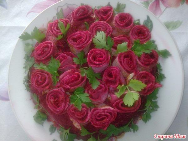 Салат букет роз рецепт пошагово в
