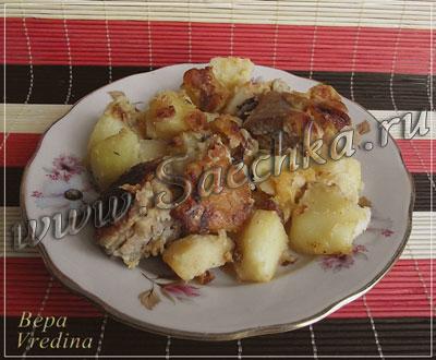 тушеная курица с картошкой в мультиварке поларис