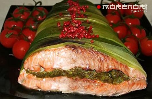 лосось целиком в духовке рецепты с фото