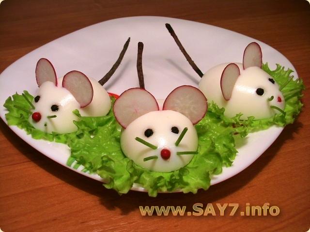 Как сделать мышат из яиц