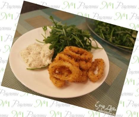Блюда из свежих кальмаров рецепты
