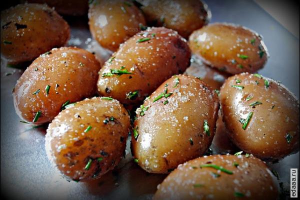 картофель с солью в духовке рецепт