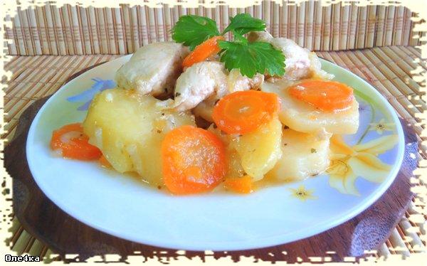 куриные желудочки с картошкой рецепты в мультиварке
