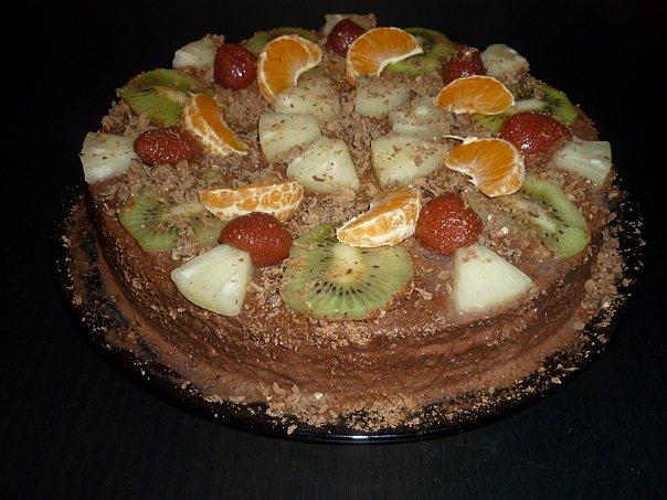 Торт из готовых покупных коржей рецепт пошагово134