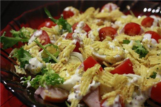 Салат с чипсами рецепты с с курицей