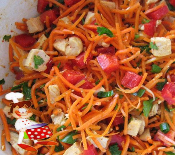 рецепт быстрого салата с перцем