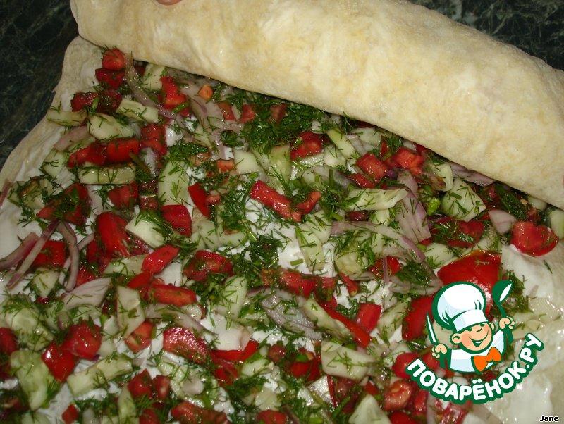 Рецепт приготовления лаваша с начинкой в домашних условиях 150
