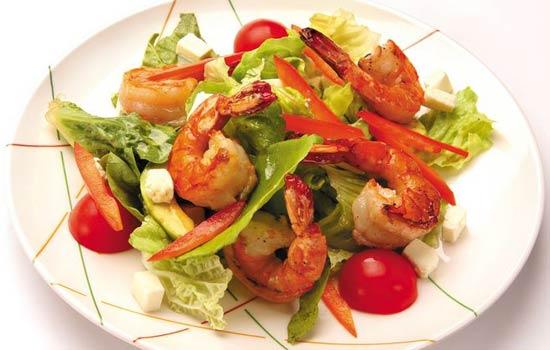 Рецепты салат из креветок и мидий