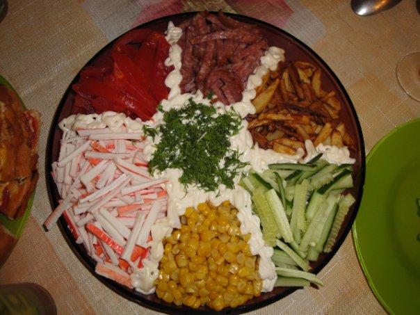Салат с картошкой и с сыром