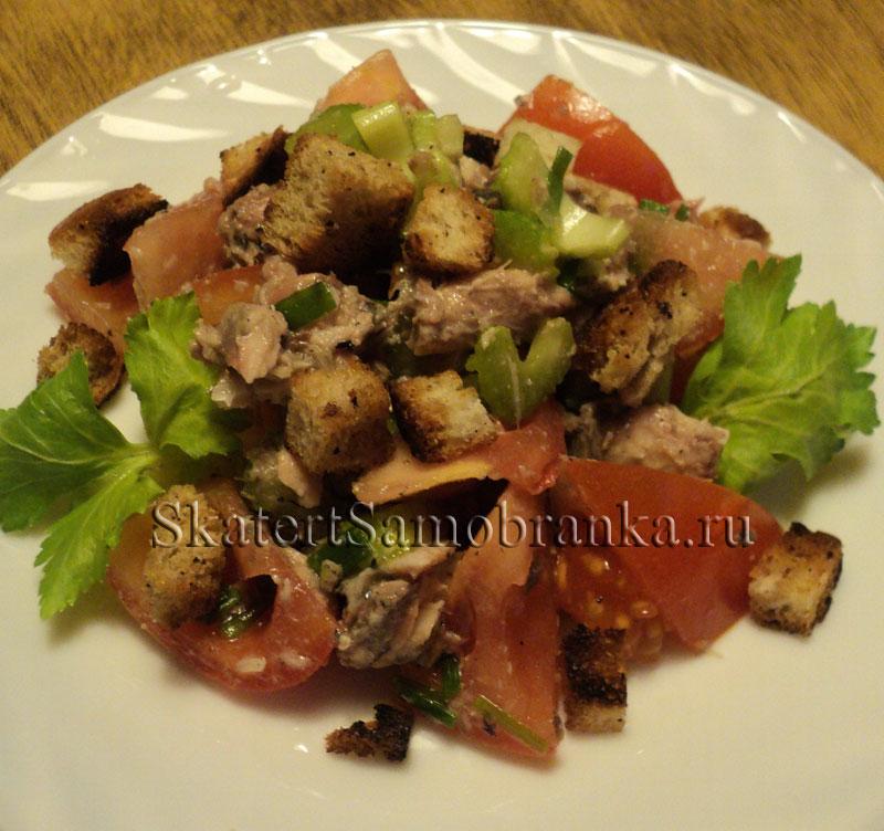 рецепт салата из кальмаров в масле