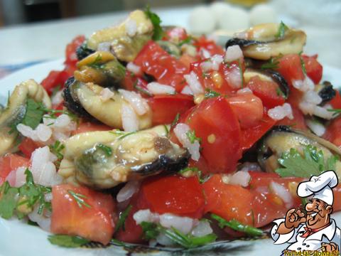 Салат с мидиями рецепты с фото