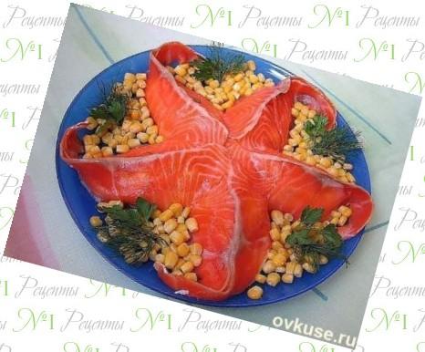 Украшения салатов фото морская звезда