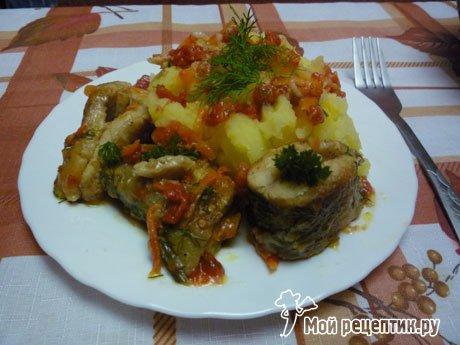 судак с овощами рецепты приготовления с фото