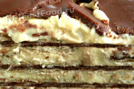 Рецепт бананового торта без выпечки