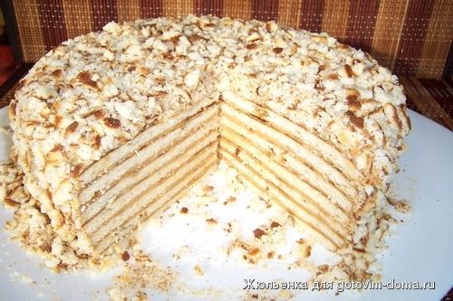 Рецепт торта с заварным тестом с фото