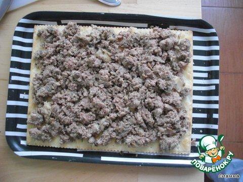 закусочный торт из готовых коржей наполеон