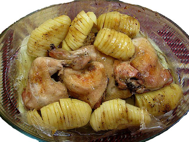 Курица в рукаве в духовке с картошкой рецепт
