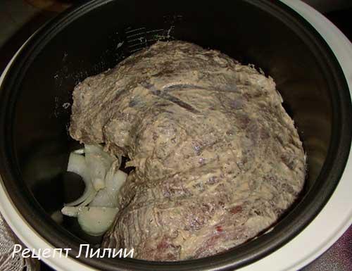 Мясо в мультиварке редмонд в фольге