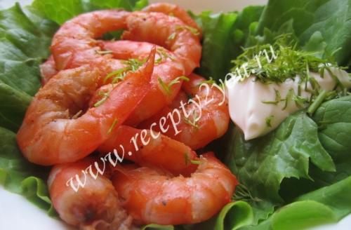 большие креветки рецепты приготовления