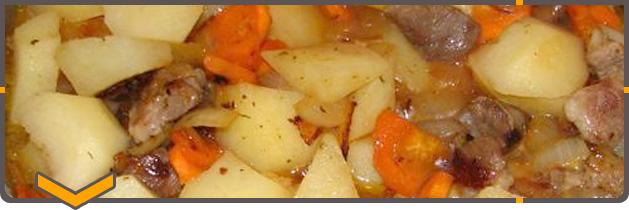 Как потушить картошку с мясом в кастрюле пошаговый рецепт