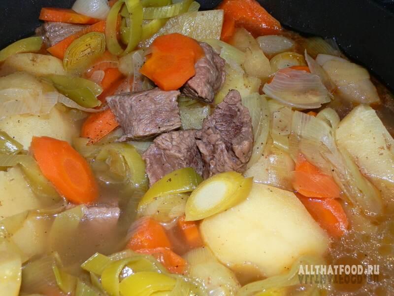 Мясное рагу с картошкой рецепт