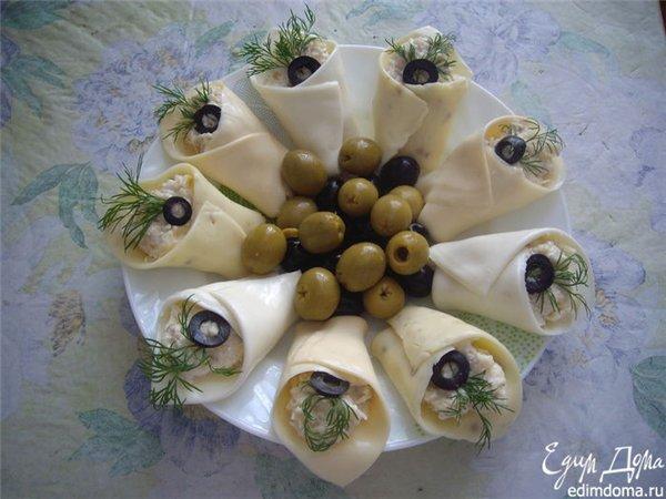 Каллы из сыра рецепт с фото