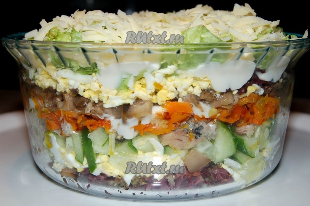 Салат из грибов жареных рецепт с фото