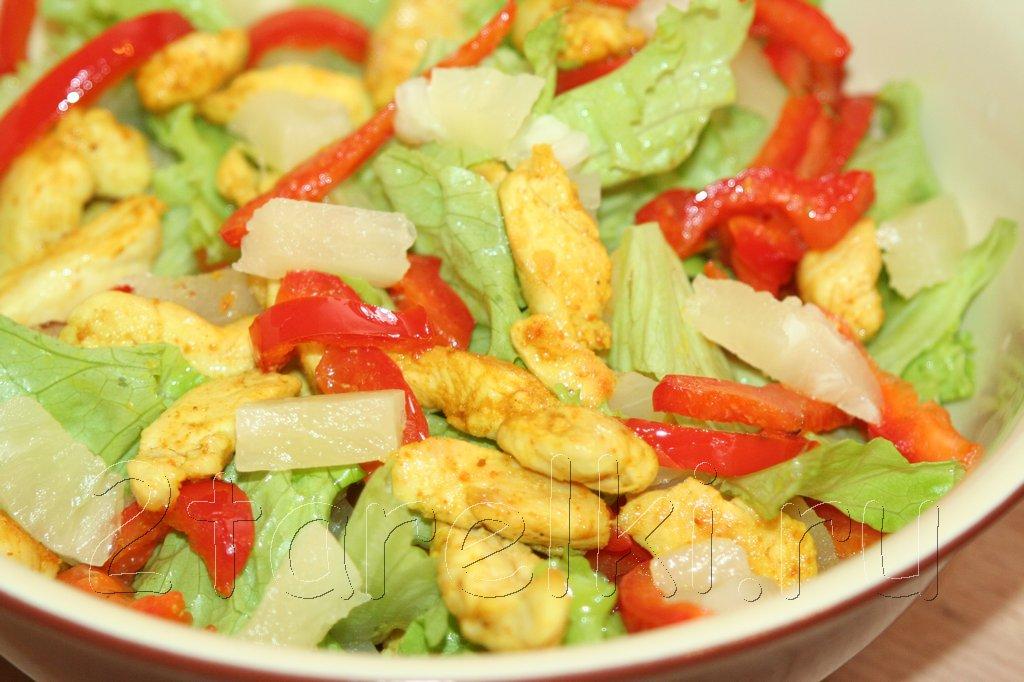 Салат с курицей без майонеза вкусные