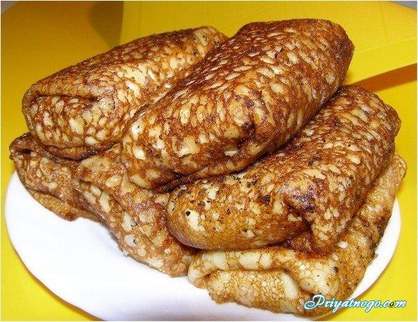 рецепты блинчиков с мясом