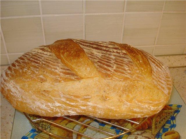 Как испечь хлеб без дрожжей в духовке рецепт