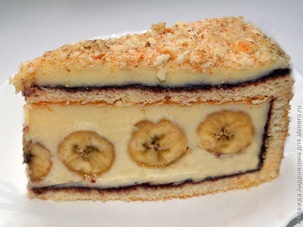Рецепт тортов с бананом пошагово