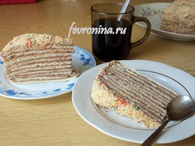 торт на сметане рецепт с заварным кремом