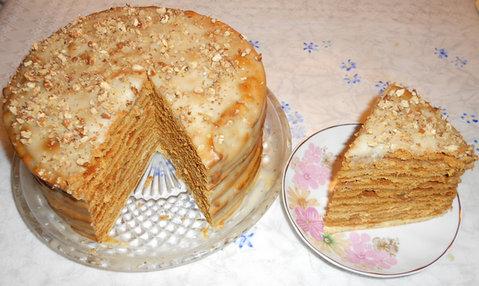 Заварной крем медовый торт рецепт с фото