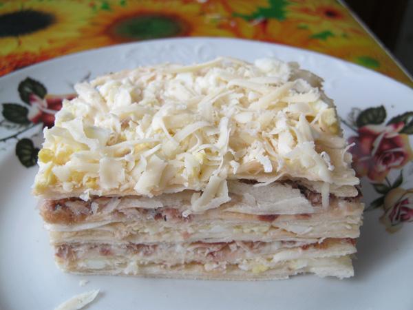 Пирог из коржей