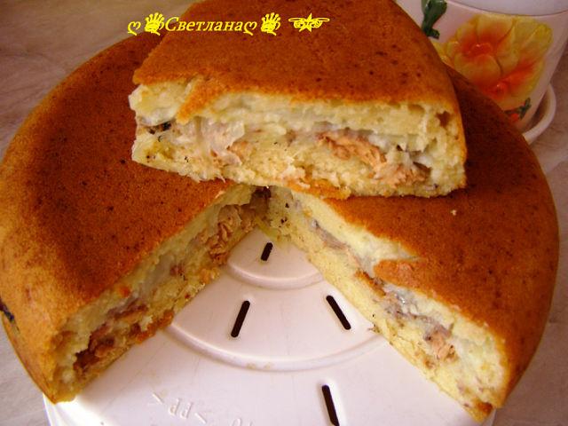 Слоеный пирог с рыбой в мультиварке рецепты