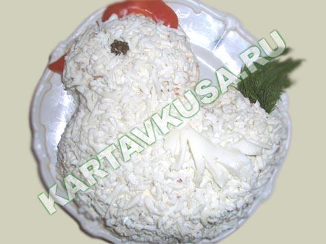 Салат курочка ряба рецепт с ананасом