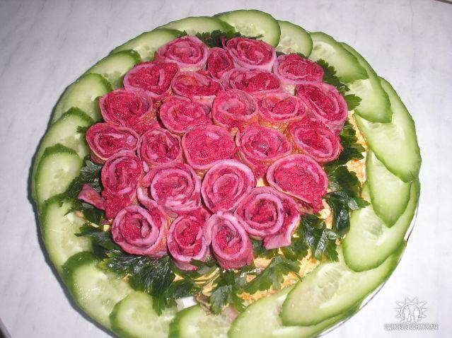 салаты праздничные из печени рецепты с фото