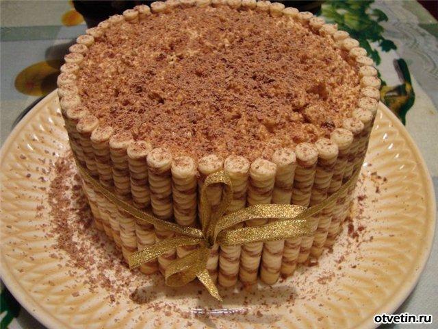 Торт из печенья своими руками рецепт с фото