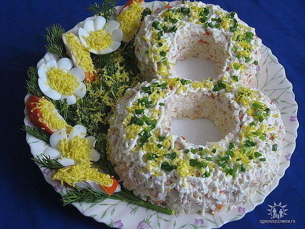 салат 8 на 8 марта рецепты с фото