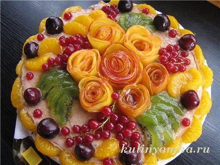 Как сделать фруктовый торт в домашних условиях