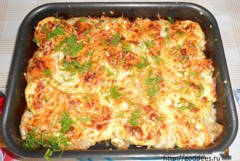 рецепт гуся в духовке с картошкой в фольге рецепт