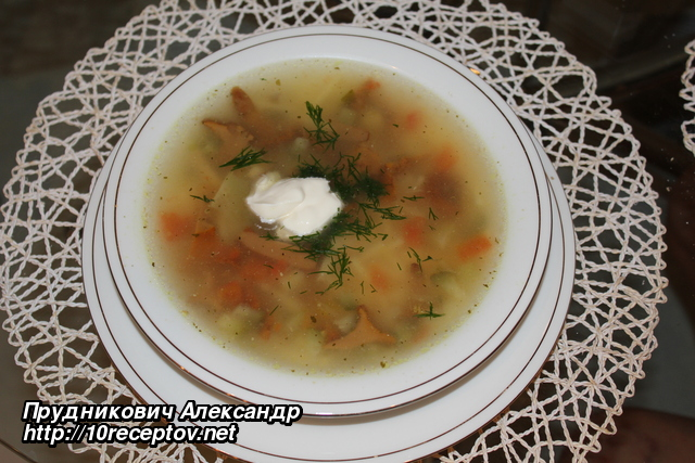 Суп из консервированных шампиньонов рецепт