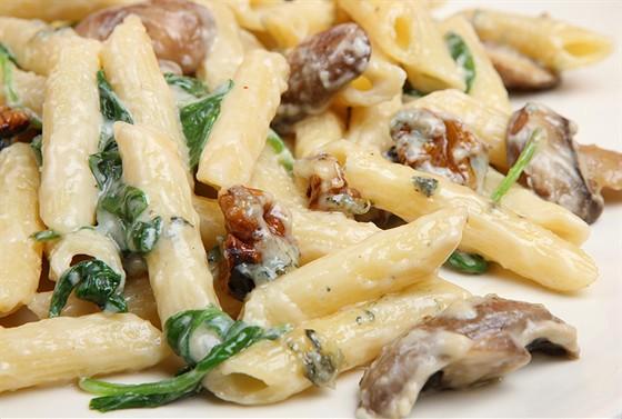 С грибами и макаронами рецепт с фото