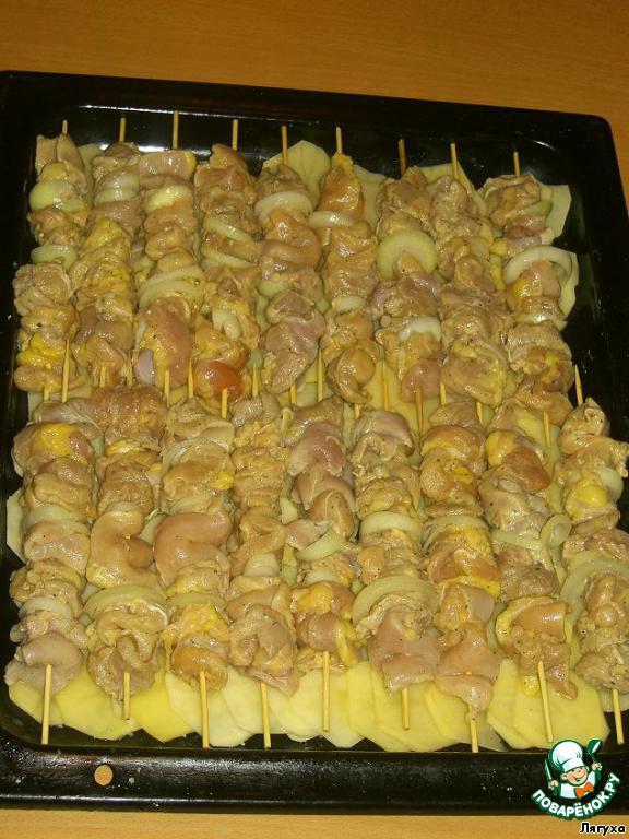 куриный шашлык в духовке рецепты с фото