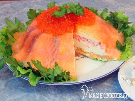 Салат торт рыбный рецепты пошагово