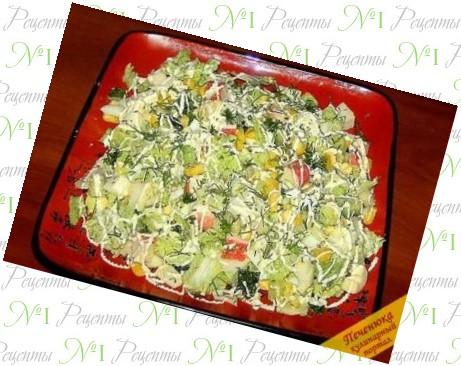 Салат в пикинской капустой
